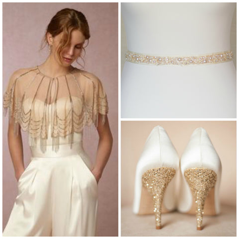 Gold wedding- Gold wedding accessories - Gold bridal accessories