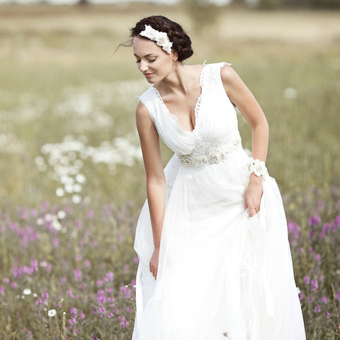 Wedding dress sashes & belts