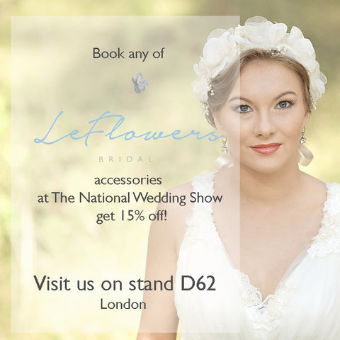 LeFlowersBridal at The biggest and best wedding shows in the UK