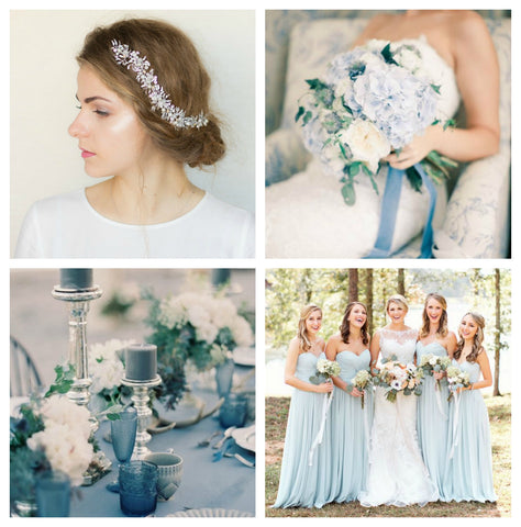 Sky blue wedding palette