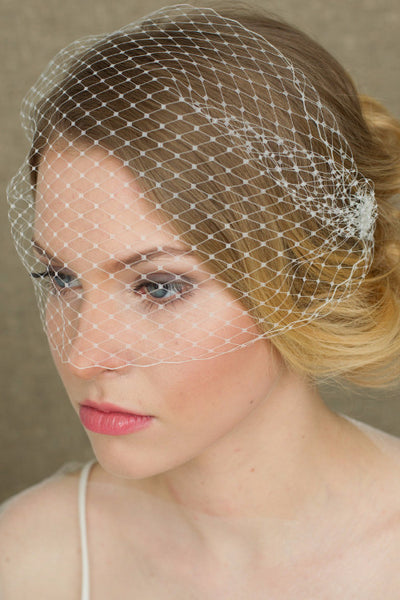 Bridal Bird cage Veil , wedding birdcage veil