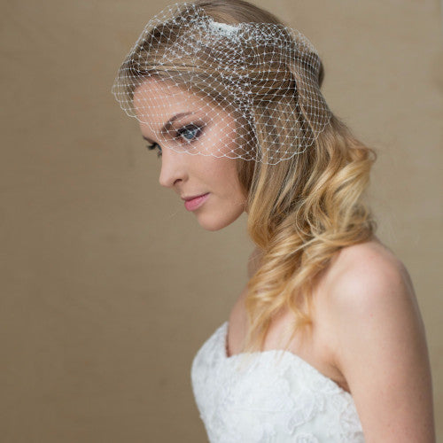 Wedding Birdcage Veil - LeFlowers Bridal