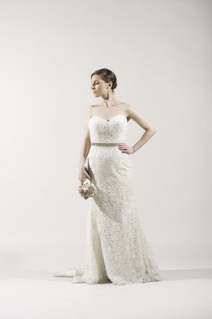 Dennis Basso 1125 Ivory French Lace Wedding Dress For Kleinfeld