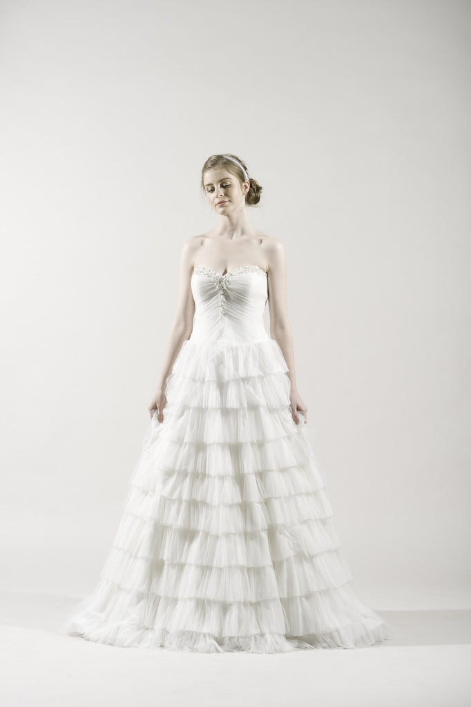 Alita Graham 7805 Ivory Chiffon Gown for Kleinfeld – Instant Filters 2