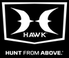 "HAWK® 5"" Vertical Decal w/ HUNT FROM ABOVE"