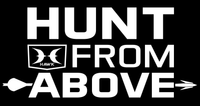 "HUNT FROM ABOVE® 9"" Vertical Decal"