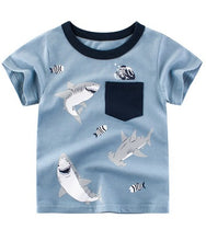 Load image into Gallery viewer, 27 Shark Graphic Tees Boys T Shirt