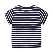 Load image into Gallery viewer, Jumping Meters Boys Blue Stripe T Shirt