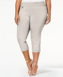 Alfani Women Plus Size Tummy-Control Capri Pants