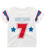 Load image into Gallery viewer, 27 Kids Seven Boys white T Shirt