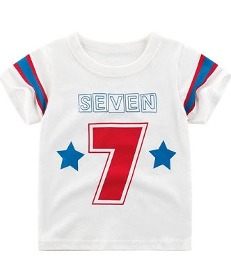 27 Kids Seven Boys white T Shirt