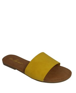 Omen One Piece Slide in yellow slippers