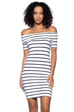Load image into Gallery viewer, Capella Off-Shoulder Stretch Knit Dress