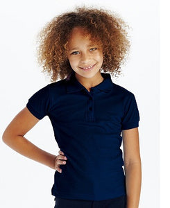 Cutie Patootie Girl's Johnny Soft Pique Polo Top.