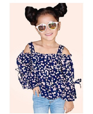 Cutie Patootie Girl's Off-Shoulder Fashion Top
