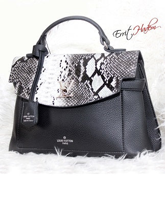 Black and White Animal Skin Handbag