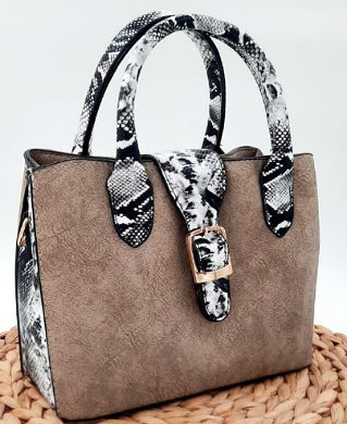 Carton And Animal Skin Women Handbag