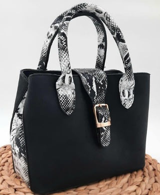Black And Animal Skin Women HandBags