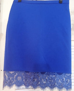 Sequin Hearts Royal Blue Women Skirt
