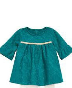 First Impressions Green Baby Girls Dress