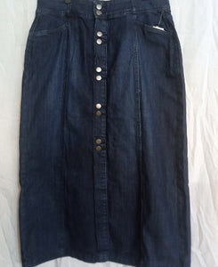 Style And Co Navy Blue Women Long Jean Skirt