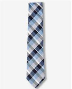 Nick Cannon Blue And Black Check Men Necktie