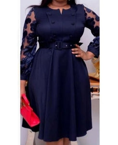 Melancholia Navy Blue Women Dress