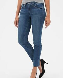 Style And Co Curvey Blue Skinny Leg Women Trouser