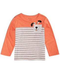 First Impression Orange, Grey strip Boy Top