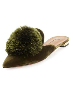 QQ Fish Green Slippers