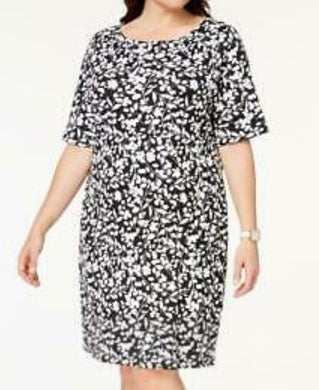 Karen Scott Deep Black Floral Dress
