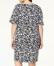 Load image into Gallery viewer, Karen Scott Deep Black Floral Dress