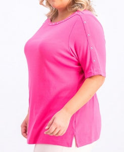 Karen Scott Pink Women Top