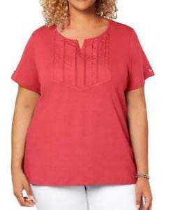 Karen Scott Coral Women Top