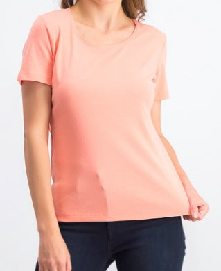 Karen Scott Coral Orange Women Top