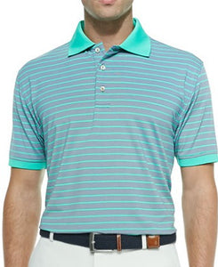 Polo Cooper Mint Green Strip Men T-Shirt
