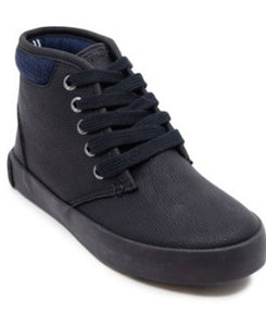 Nautica Boy's Black Tumbled Ankle Boots