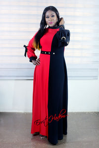 Women Dress Red and Black