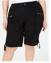 Load image into Gallery viewer, Style & Co black Bermuda cargo shorts