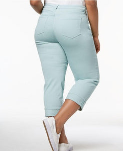 Style & Co. Women Plus Size Denim Aqua Mint Green