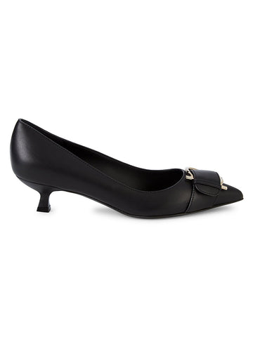 Salvatore Ferragamo Bion Leather Buckle Pumps