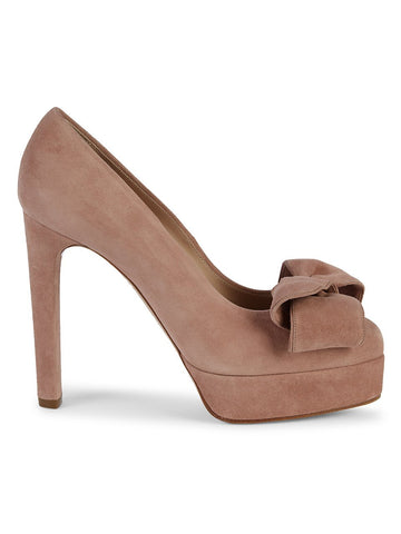 Casadei Bow Suede Pumps