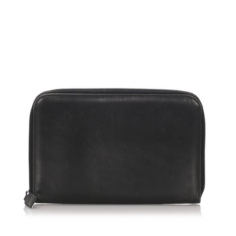 Prada Black Leather Organizer
