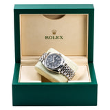 Stainless Steel Rolex DateJust 116200 36mm Black Dial
