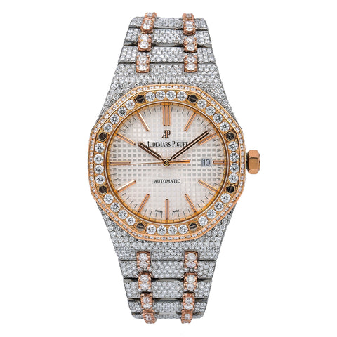 Audemars Piguet Royal Oak Selfwinding 15400SR 41MM White Dial With 29.75 CT Diamonds