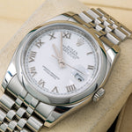 Rolex Datejust 116200 36MM White Dial With Stainless Steel Jubilee Bracelet