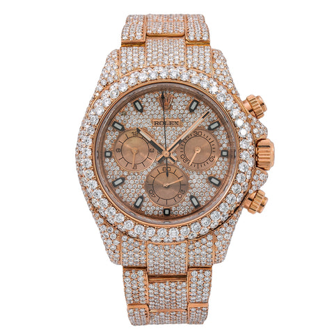 Rolex Daytona 116505 40MM Rose Gold Diamond Dial With Rose Gold Bracelet