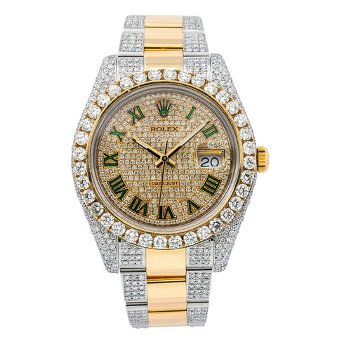 Rolex Datejust II 116333 Champagne Diamond Dial With 14.25 CT Diamonds
