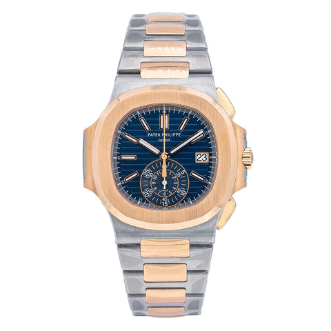 Patek Philippe Nautilus 5980/1AR 40MM Blue Dial With Two Tone Bracelet