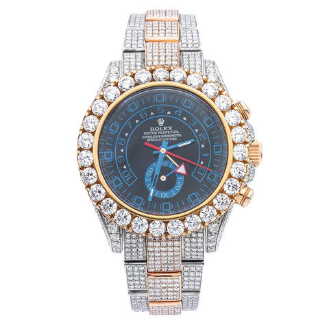 Rolex Yacht-Master II 116681 44MM Blue Dial With 17.50 CT Diamonds